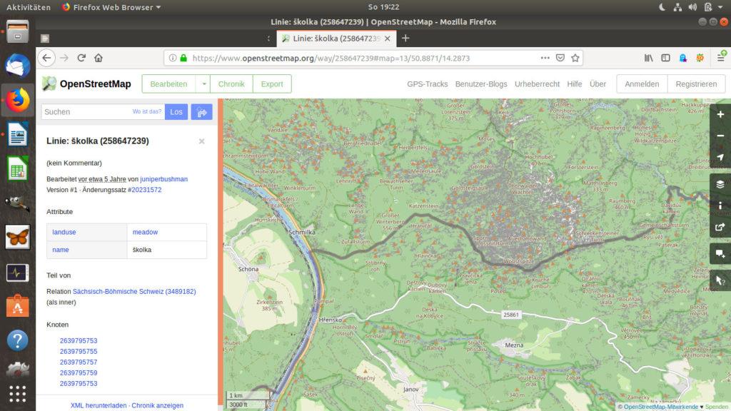 openstreetmap.org Kartenausschnitt Prebischtor