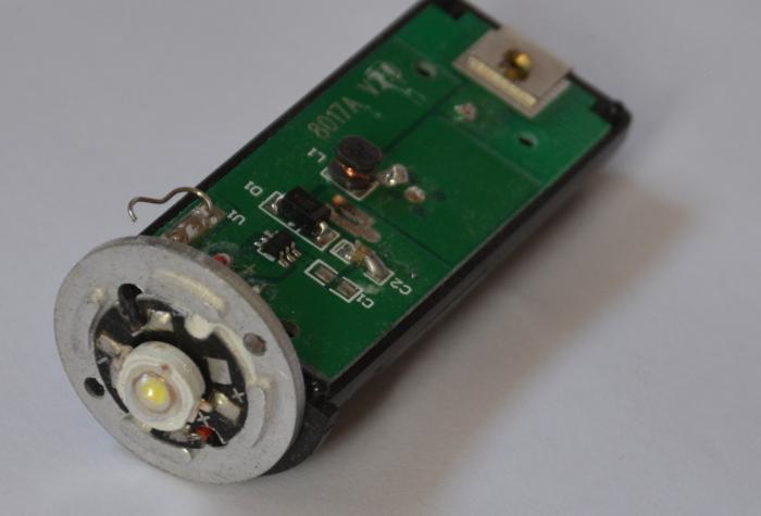 Elektronik-Teil einer LED Stablampe