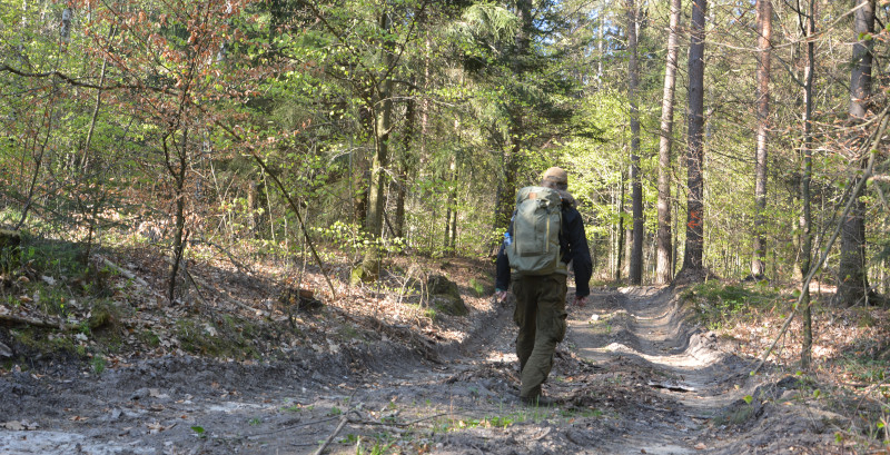 Mit Rucksack Abisko Hike 35 auf Oberlausitzer Bergweg