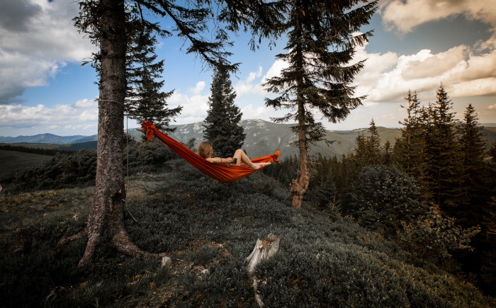 Hängematte outdoor Bergland
