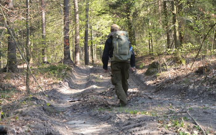 Wanderrucksack Abisko Hike 35 unterwegs im Zittauer Gebirge - postpic