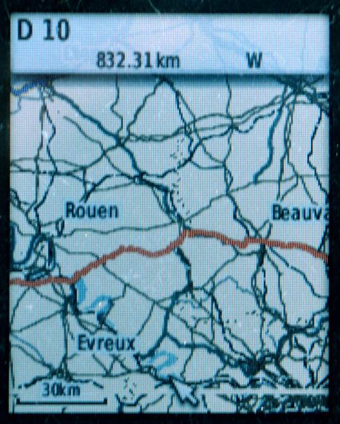 outdoor GPS handy Anzeige Fahrradkarte mit Track